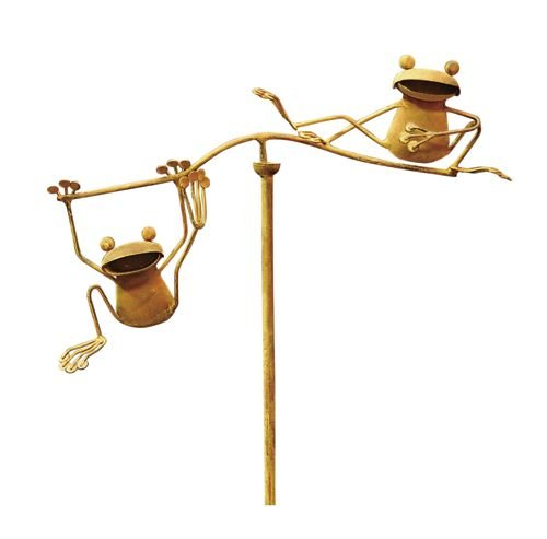 Red Carpet Studios Balancing Buddies Small Yard Art, Frogs Frog Bronze Garden Statue