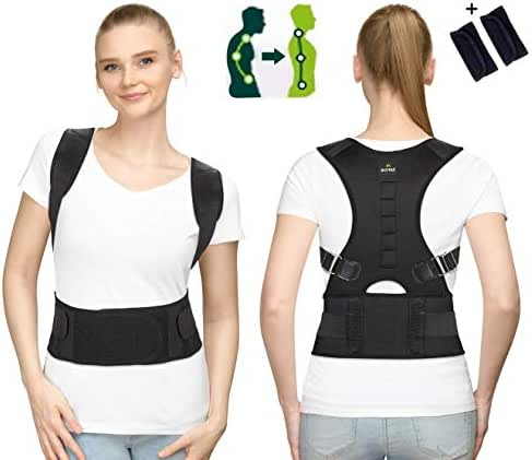 SOMAZ Adjustable Posture Corrector for Men&Women&Kids,Slouching Corrector,Clavicle support,Back Straightener, Upper and lumbar Back Brace Support for Rounded Shoulders& Back Pain FDA Approved (XL)