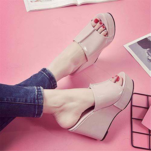 Pink De Poisson Pantoufles pour Femmes YUCH wXqHT48