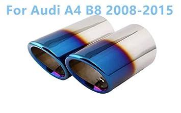 Azul Final de acero inoxidable cola Tubo de escape Silenciador punta de coche 2pcs para coche accesorios: Amazon.es: Coche y moto