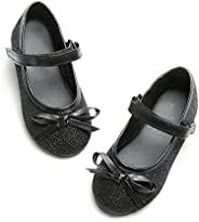 Bow/Cross Strap Dress Ballet Flat Mary Jane Shoes for Toddlers/Little Girls