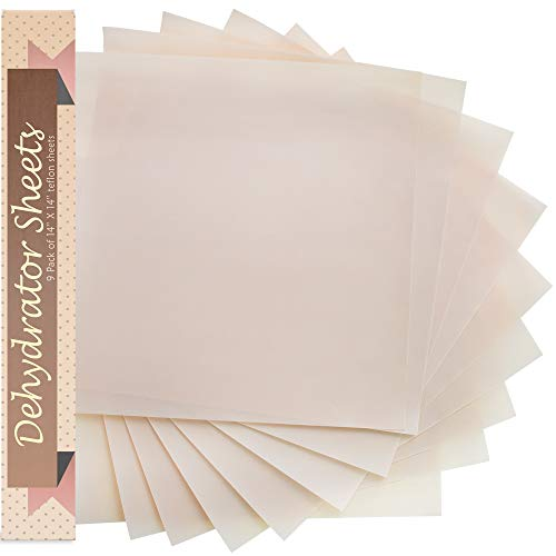Baking Mat Teflon Dehydrator Sheet - Set Of 9 Premium 14'' X 14'' Excalibur Food Dehydrator Tray Liners Sheets Non Stick Baking Mat Food Dryer Sheet For Excalibur 2500 3500 - Accessories Excalibur Dehydrator