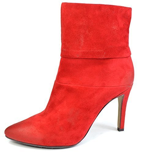 SPM Siglo Zapatos Mujer Estilete 17816158 rojo o negro Botines Aspecto Usado Rojo