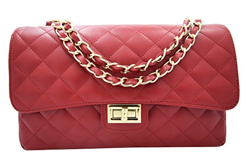 Canetti Collections Bolso Piel Quilted Napa Rojo
