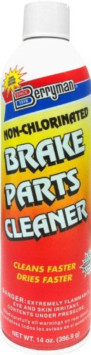 Berryman (2420C-12PK) Non-Chlorinated Brake Part Cleaner - 14 oz, (Pack of 12)