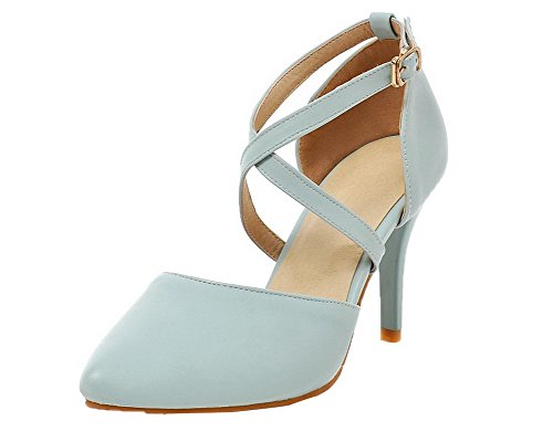 3a3887e74b6 WeenFashion Women s Pu Solid Buckle Closed-Toe High-Heels High-Heels  High-Heels Sandals B01IK5EHYQ Shoes ee06c9
