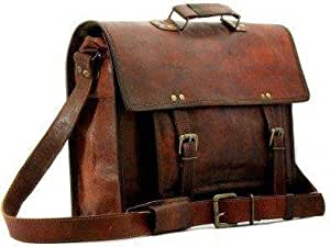 TUZECH Pure Leather Bag Modern Light- Weight Messenger Satchel Bag - Fits Laptop Upto (11 Inches)