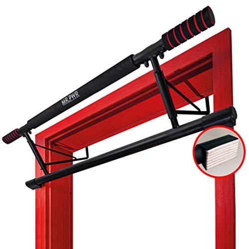riijk 3-in-1 premium optrekstang, deur & dip bars & push-up-handgrepen, + 20 cm hoogte voor volledige…
