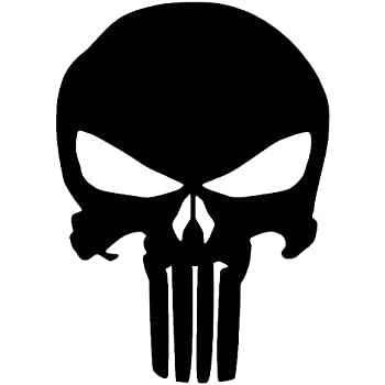 The punisher skull vinyl sticker decal 5x4
