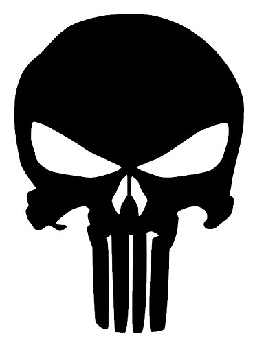 amazon com the punisher skull vinyl sticker decal 5 x4 black