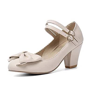 BalaMasa Womens APL12178 Bows Huarache Penny Loafer Beige Pu Heeled Sandals - 2 UK (Lable:33)