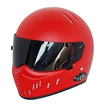 Casco de Moto con Bluetooth Fibra de vidrio material Casco de seguridad con tapa up casco