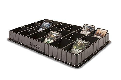 Ultra Pro Trading Card Sorting & Dealer Tray (18 Slot), Black