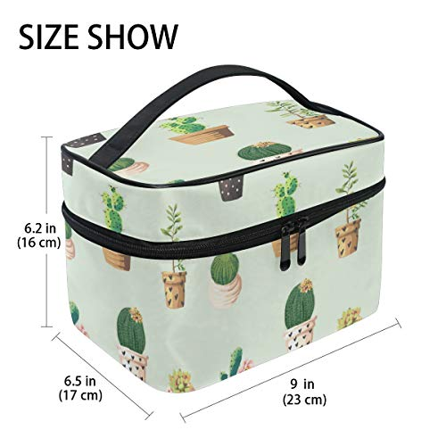 Dragon Sword Potted Plant Cosmetic Toilet Bag for Travel,Womens Flat Makeup Bag Purse Handbag Organizer with ()