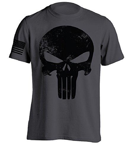 Bang Bang Apparel Men's Punishment T-Shirt (Charcoal, Large) (Best Punisher Action Figure)