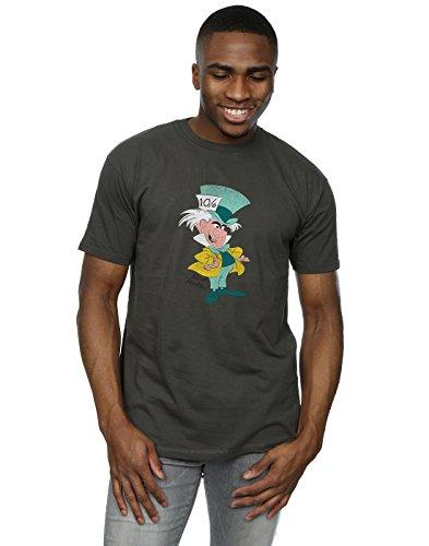 Mad Men Light - Disney Men's Classic Mad Hatter T-Shirt Large Light Graphite