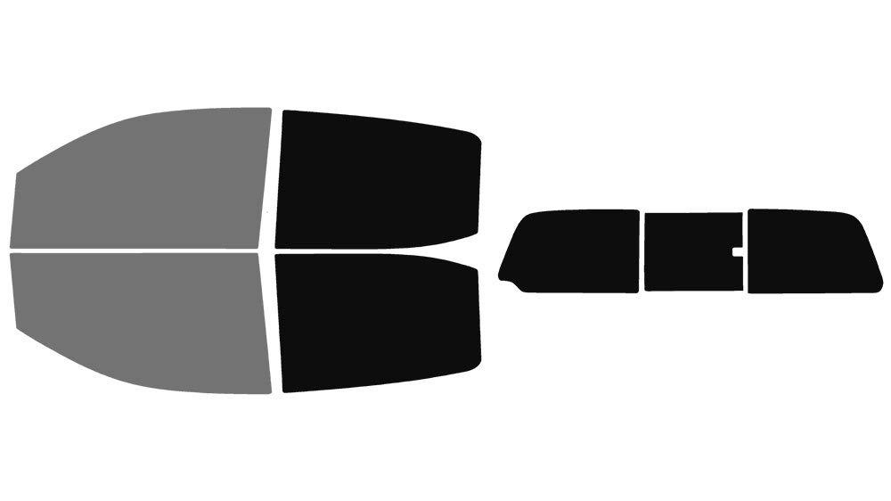 Precut Window Tint Kit - Fits: 2015, 2016, 2017, 2018 & 2019 Chevrolet Colorado Crew Cab Truck (Includes: Front Windshield Visor precut in 15%) Automotive Window Film The Tint Effect