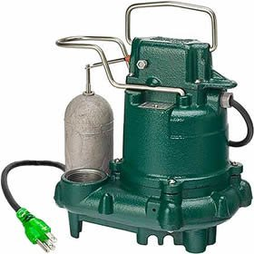 Zoeller M63 Premium Series 5 Year Warranty Mighty-Mate Submersible Sump Pump, 1/3 Hp