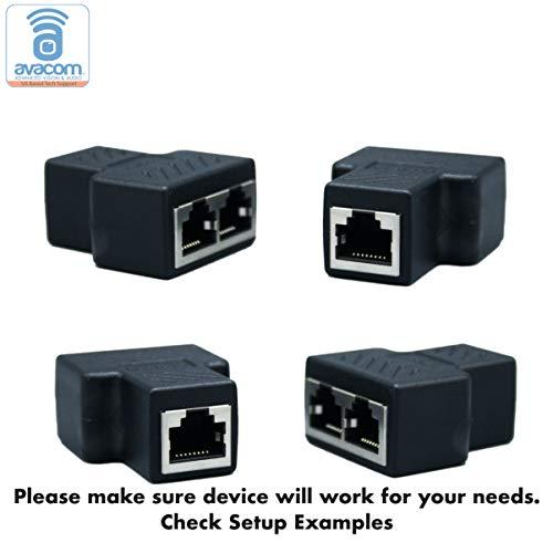- AVACOM RJ45 Multiplex/Splitter Adapter, Female Socket Interface, Ethernet Cable 8P8C Coupler, Keystone Jack, Extender Plug, Ethernet LAN Network Connector (2-Pair, 2 Multiplexers + 2 Splitters)