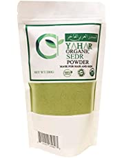 YAHAR Organic natural Sedr leaf powder mask to intensify, lengthen and grow hair and prevent hair loss