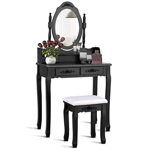 Pleasing Top Vanity Black Stool For 2019 Aalsum Reviews Machost Co Dining Chair Design Ideas Machostcouk