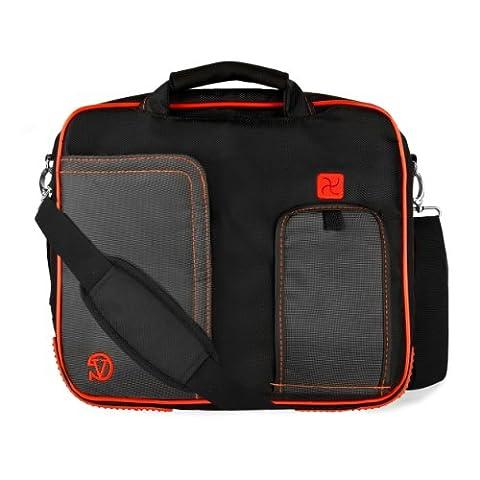 VanGoddy Pindar Messenger Shoulder Bag Case for Dell 15.6 inch Laptops, Fruit Punch Red
