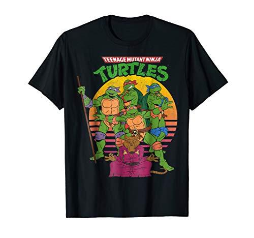 Teenage Mutant Ninja Turtles Retro Sun Group Tee-Shirt -