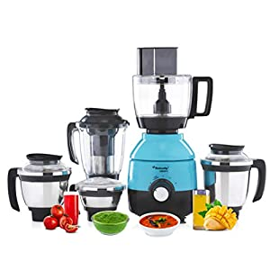 Butterfly Cresta Food Processor, 1 HP, 5 Jars (Turquoise Green / Black)