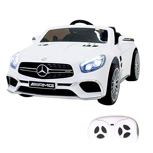 COLOR TREE 12V Ride-On Car SL65 AMG Roadster Electric Cars for Kids w/Kids Ride Fun & Remote RC Control Ride On Car]()