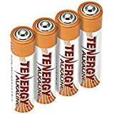 Tenergy 1.5V AAA Alkaline Battery, High Performance AAA Non-Rechargeable Batteries for Clocks, Remotes, Toys & Electronic Devices, Replacement AAA Cell Batteries, 4-Pack