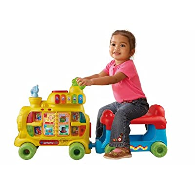 VTech Sit-to-Stand Alphabet Train: Toys & Games
