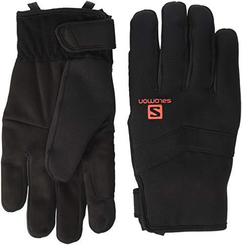 Salomon Unisex Rs Warm Glove , Black/Fiery Red, Small