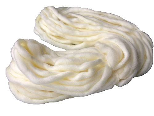 Zituop Super Chunky Roving Big Yarn for Hand Knitting Crochet, 250g, 8.8 Ounze (Ivory White)
