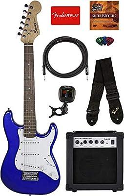Squier por Fender Mini Strat guitarra eléctrica - Imperial Blue ...