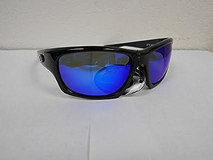 Multi-Layer White Blue Mirror Gray Base Lens Matte Black Frame Strike King S11 Caddo Polarized Sunglasses UVA//UVB Protection