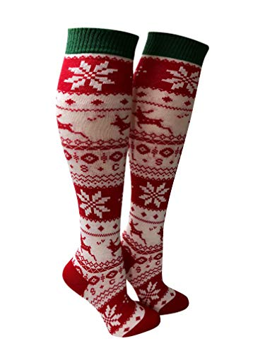Snow Flakes Christmas Socks - Knee High - Organic Cotton - Made in Europe - Love Sock Company