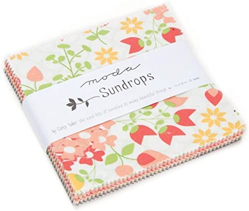 Sundrops Charm Pack By Moda; 42 - 5 Precut Fabric Quilt Squares by ...