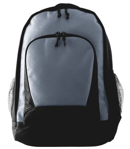 Augusta Sportswear Ripstop Backpack, Graphite Black, One Size. 1710, Bags Central