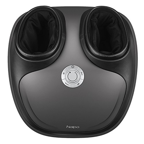 Naipo Shiatsu Foot Massager with Heat Tapping Rolling and Air Compression