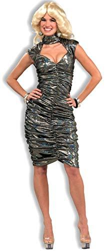 Forum Novelties Women's 70's Disco Fever Dancing Queen Costume Dress, Silver, -