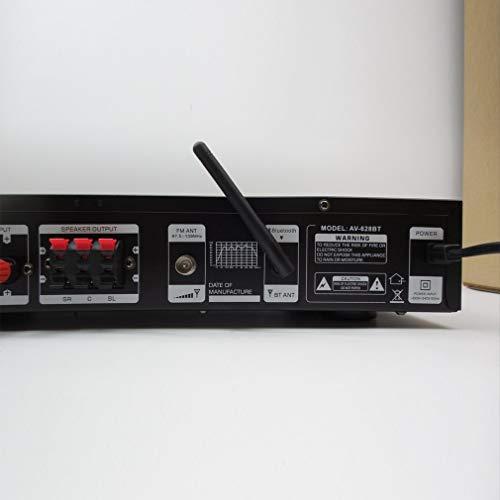 bvggfhcvbcgvh 1120W 220V Amplificador de Potencia de Hi-Fi Bluetooth de 5 Canales Multifuncional Sonido Envolvente de Sonido Envolvente casero Karaoke ...