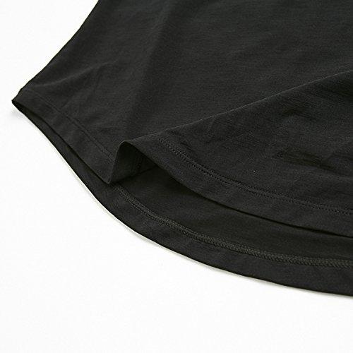 Courtes T À col Alizeal Yoga Pour Gris Femmes Manches shirt Rond x0T115qnP