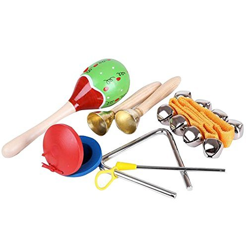 Homieco™ Musical Instruments Kids Toys Set 5 pcs for kids-Percussion & Rhythm Maracas Band Play Musical Toys for Baby Children