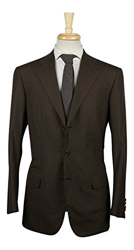 Cotton Suit Brioni - brioni Parlamento bistre Brown Cotton 3 Roll 2 Button Suit 50/40 R