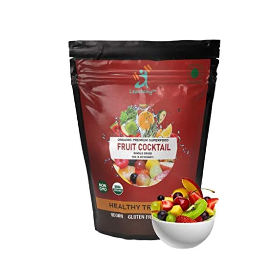 LEANBEING- Fruit Cocktail 1kg (Mix Dehydrated Fruits) | Dried Fruits and Berries Trail Mix | Rich in antioxidants