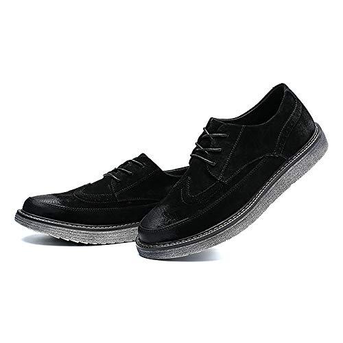Enhanced Retro e Pelle EU Scarpe in 2018 British Mens casa Nero 44 compagnia vivere Shoes Brogue camminare Youth Uomo Outsole Color Per Grigio Dimensione BxBXtnW