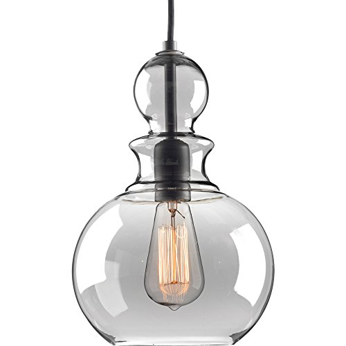 - Progress Lighting P5334-143 Staunton One-Light Pendant, Graphite