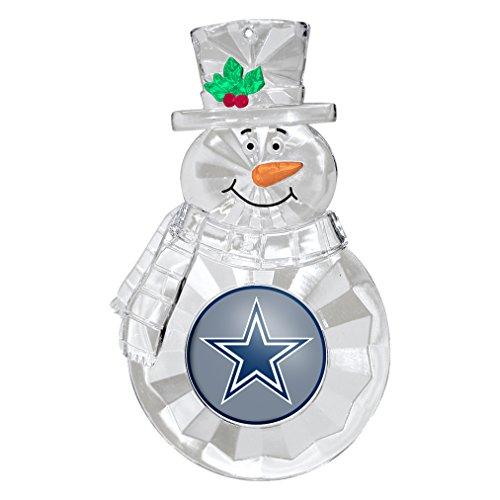 NFL Dallas Cowboys Traditional Snowman Ornament ()