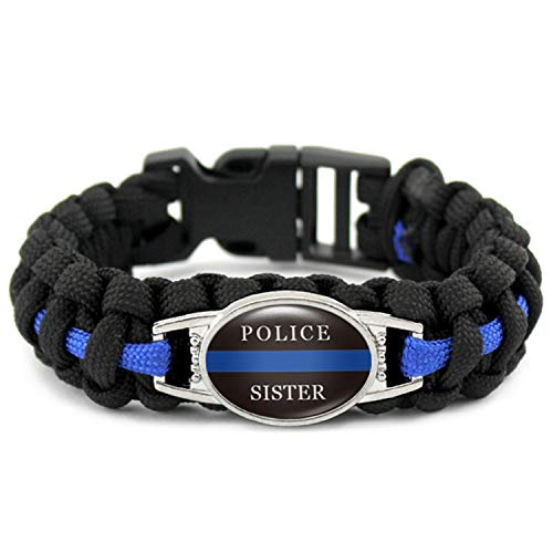 Ring Onyx Dad (Thin Blue Line Blue Black Lives Matter Wife Mom Sister Dad Policeman K9 Canine Dog Patrol Dog Outdoor Bracelets)