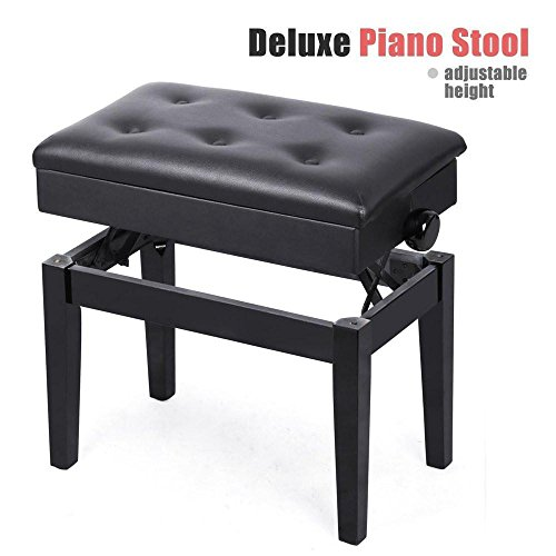 Yaheetech Faux Leather Adjustable Style Artist Piano Bench 17.7 - 21.7 inch H